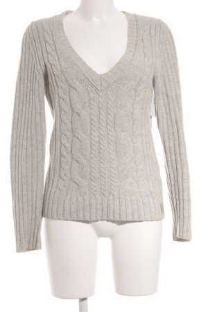 Marc O'Polo Strickpullover hellbeige Lochstrickmuster Casual-Look