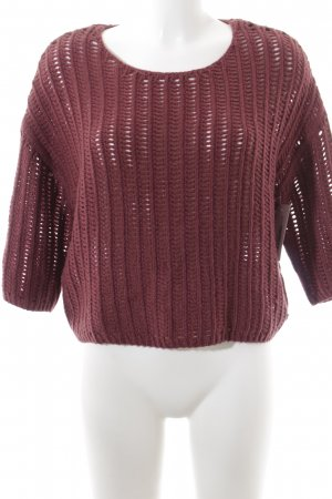 Marc O'Polo Strickpullover karminrot Casual-Look