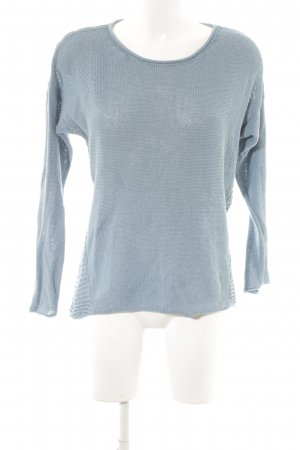 Marc O'Polo Strickpullover kornblumenblau Casual-Look