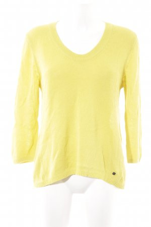 Marc O'Polo Strickpullover limettengelb Casual-Look
