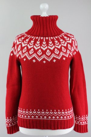 Marc O'Polo Strickpullover Norwegermuster rot Größe L