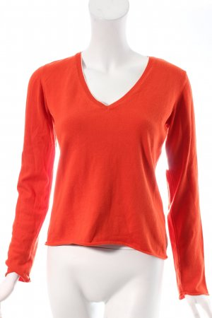 Marc O'Polo Strickpullover orange-weiß Casual-Look