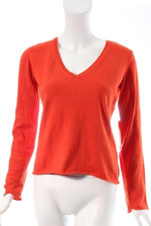 Marc O'Polo Strickpullover orange-weiß Casual-Look