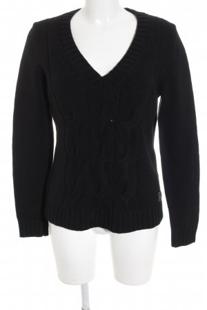 Marc O'Polo Strickpullover schwarz Casual-Look