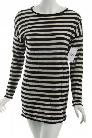 Marc O'Polo Strickpullover schwarz-weiß Streifenmuster Casual-Look