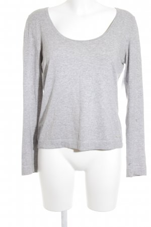 Marc O'Polo Strickpullover silberfarben-grau Casual-Look