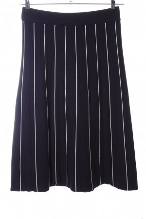 Marc O'Polo Knitted Skirt black-white striped pattern business style