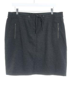 Marc O'Polo Jupe tricotée gris foncé Motif de tissage style décontracté