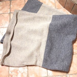 Marc O'Polo Woolen Scarf sand brown-grey new wool