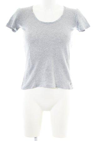 Marc O'Polo Gebreid shirt lichtgrijs gestippeld casual uitstraling