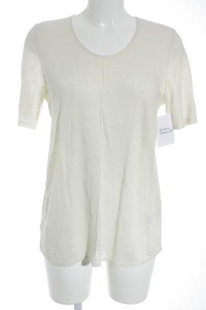 Marc O'Polo Strickshirt creme meliert Materialmix-Look