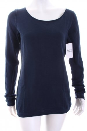 Marc O'Polo Strickshirt dunkelblau Casual-Look