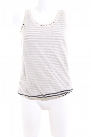 Marc O'Polo Knitted Top cream-black striped pattern casual look