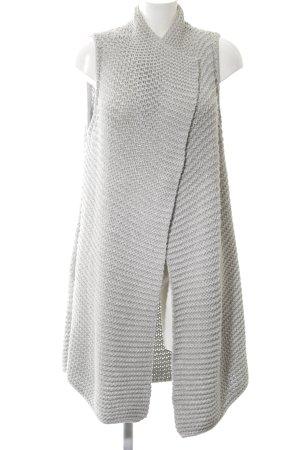 Marc O'Polo Gilet tricoté gris clair torsades style décontracté