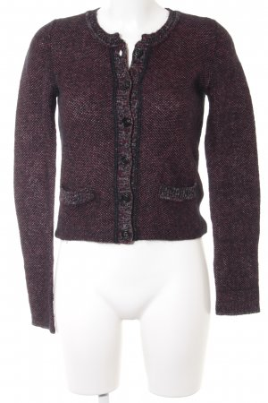 Marc O'Polo Gebreid vest bordeaux casual uitstraling