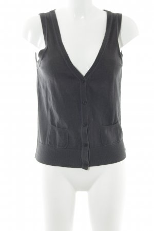 Marc O'Polo Gebreid vest donkerblauw casual uitstraling