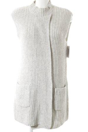 Marc O'Polo Gebreid vest lichtgrijs gestippeld casual uitstraling