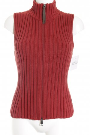 Marc O'Polo Strickweste rot Casual-Look