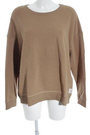 Marc O'Polo Sweatshirt bronzefarben Schriftzug gedruckt schlichter Stil