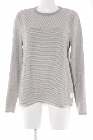 Marc O'Polo Suéter crema-gris rayas horizontales look casual