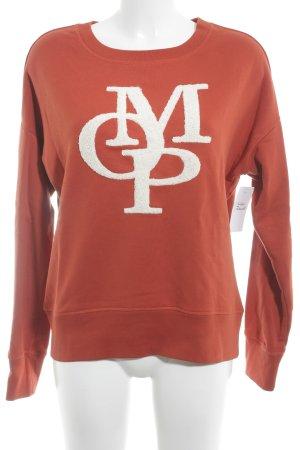 Marc O'Polo Sweatshirt dunkelorange-weiß Street-Fashion-Look