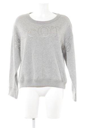 Marc O'Polo Sweatshirt hellgrau meliert Casual-Look