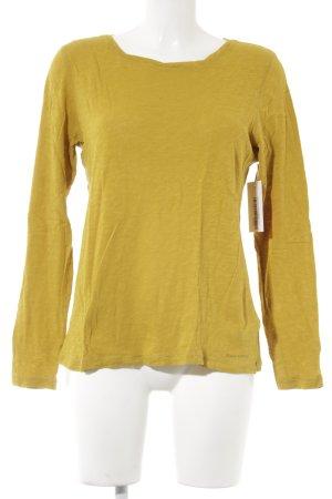 Marc O'Polo Suéter amarillo limón moteado look casual