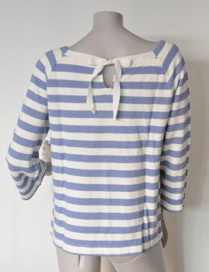 Marc O'Polo Sweatshirt mit Schlüsselloch-Detail im Nacken M00204854133 blau gestreift Gr. L
