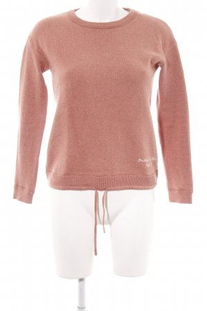 Marc O'Polo Sweatshirt nude Schriftzug gedruckt Casual-Look