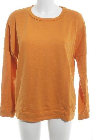 Marc O'Polo Sweatshirt orange-weiß Schriftzug gedruckt Casual-Look