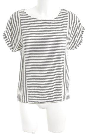 Marc O'Polo Camiseta gris claro-blanco estampado a rayas look casual