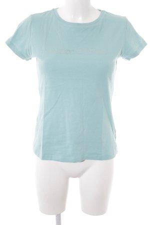 Marc O'Polo Camiseta azul bebé-color plata letras impresas look casual