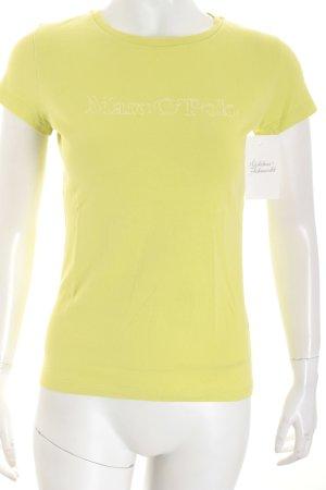 Marc O'Polo T-Shirt blassgrün Schriftzug gedruckt Casual-Look