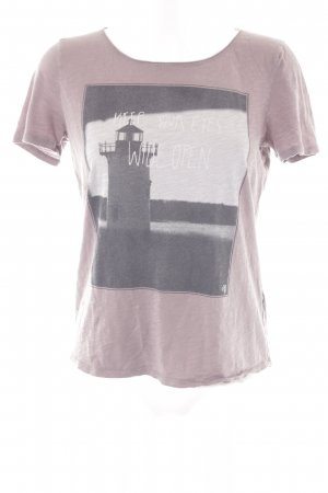 Marc O'Polo T-Shirt blasslila Motivdruck sportlicher Stil