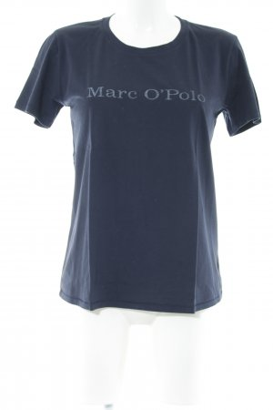 Marc O'Polo Camiseta azul letras impresas look casual