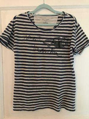 Marc o'Polo T-Shirt blau / weiß Streifen Gr. M