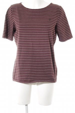Marc O'Polo T-Shirt braunrot-weiß Streifenmuster Casual-Look