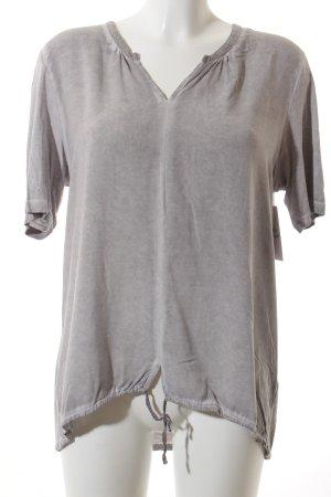 Marc O'Polo T-Shirt grau-hellgrau Batikmuster Casual-Look