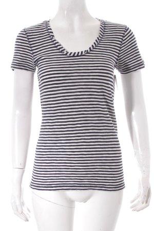 Marc O'Polo T-Shirt hellbeige-dunkelblau Streifenmuster Casual-Look