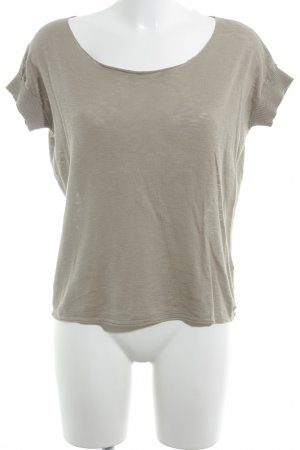 Marc O'Polo T-Shirt hellbraun Casual-Look