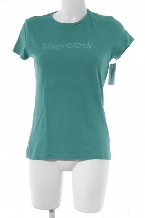 Marc O'Polo T-Shirt kadettblau Schriftzug gedruckt sportlicher Stil