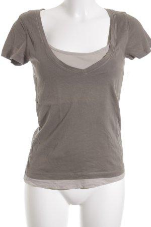 Marc O'Polo T-Shirt khaki-hellbeige Casual-Look