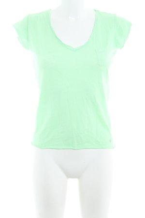 Marc O'Polo Camiseta verde neón estilo sencillo