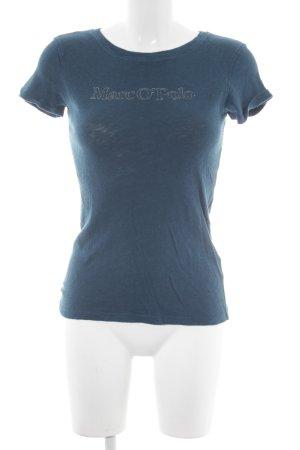 Marc O'Polo Camiseta petróleo-color plata letras impresas look casual