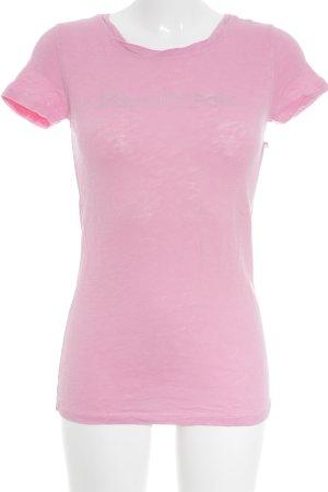 Marc O'Polo T-Shirt rosa-silberfarben meliert sportlicher Stil