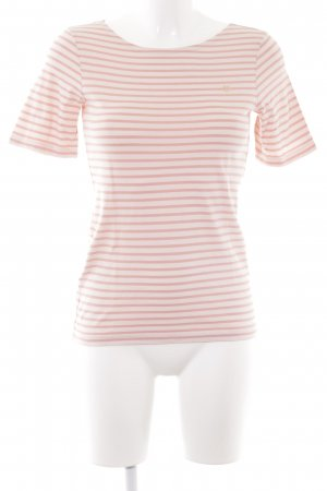 Marc O'Polo T-Shirt rosa Streifenmuster Casual-Look