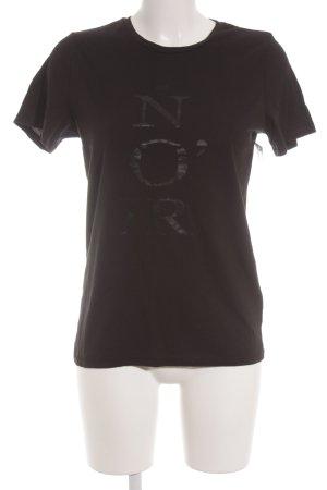 Marc O'Polo T-Shirt schwarz Schriftzug gedruckt Casual-Look