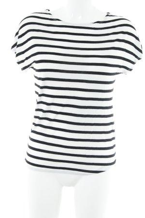 Marc O'Polo T-Shirt schwarz-weiß Streifenmuster Casual-Look