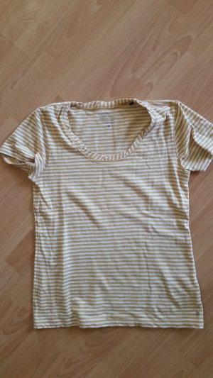 Marc O ´Polo T-Shirt, senfgelb-weiß