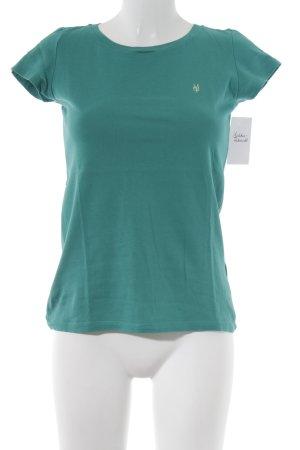 Marc O'Polo T-Shirt waldgrün Casual-Look